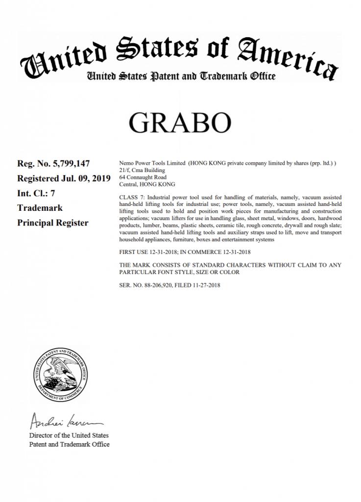 grabo certificate