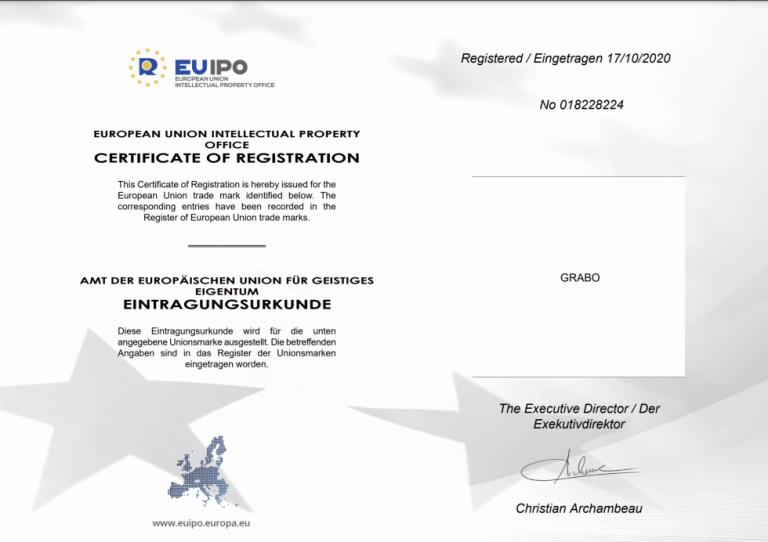 Grabo intellectual property certification